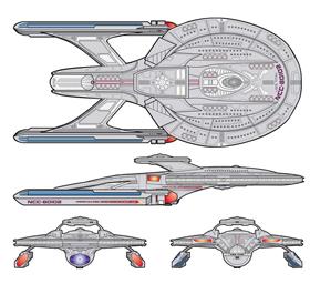 USS Titan Schematic View