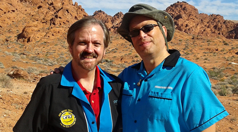 Geek Nation Tours - Valley of Fire - Larry and Teras